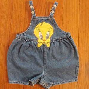 Vintage 90s Warner Bros. Tweety Bird Jean Shortall